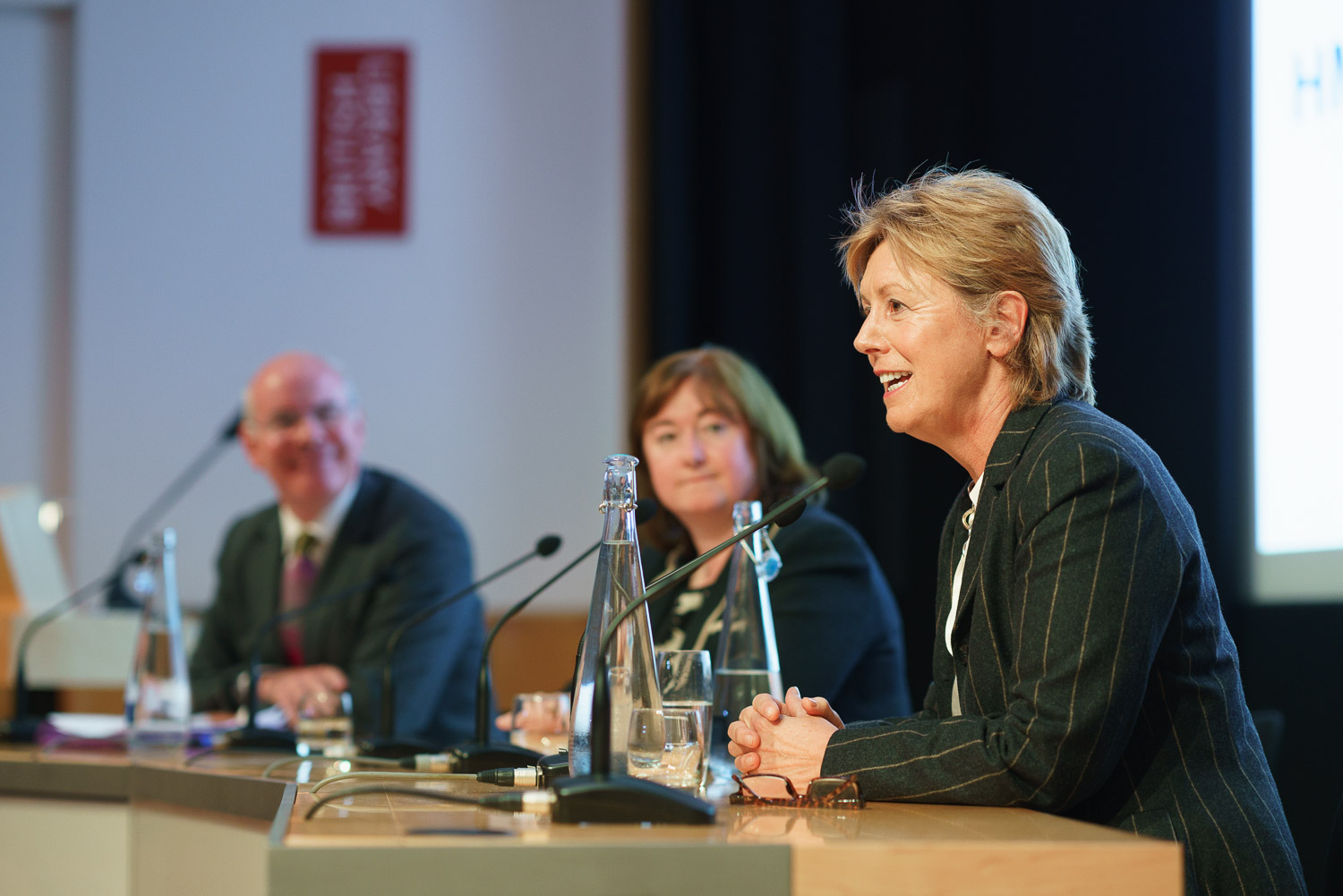 Brief: Photograph of a Panel Debate. Venue: The British Library.