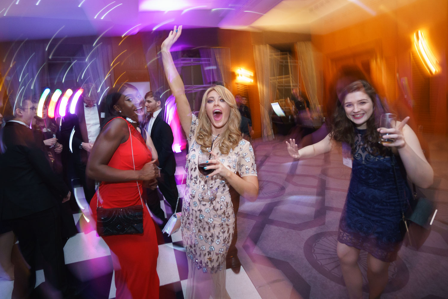 Brief: Party time on the dance floor. Venue: Grand Connaught Rooms.