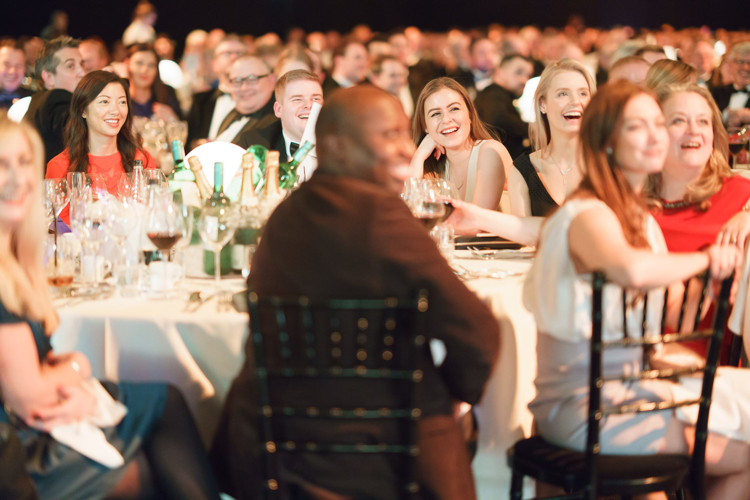 Brief: Natural moments of laughter from an awards ceremony.